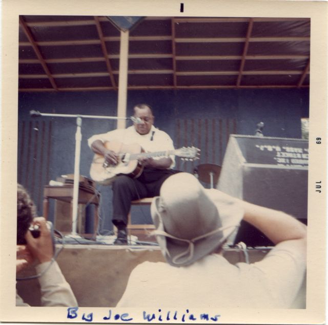 Big Joe Williams and his nine string guitar,